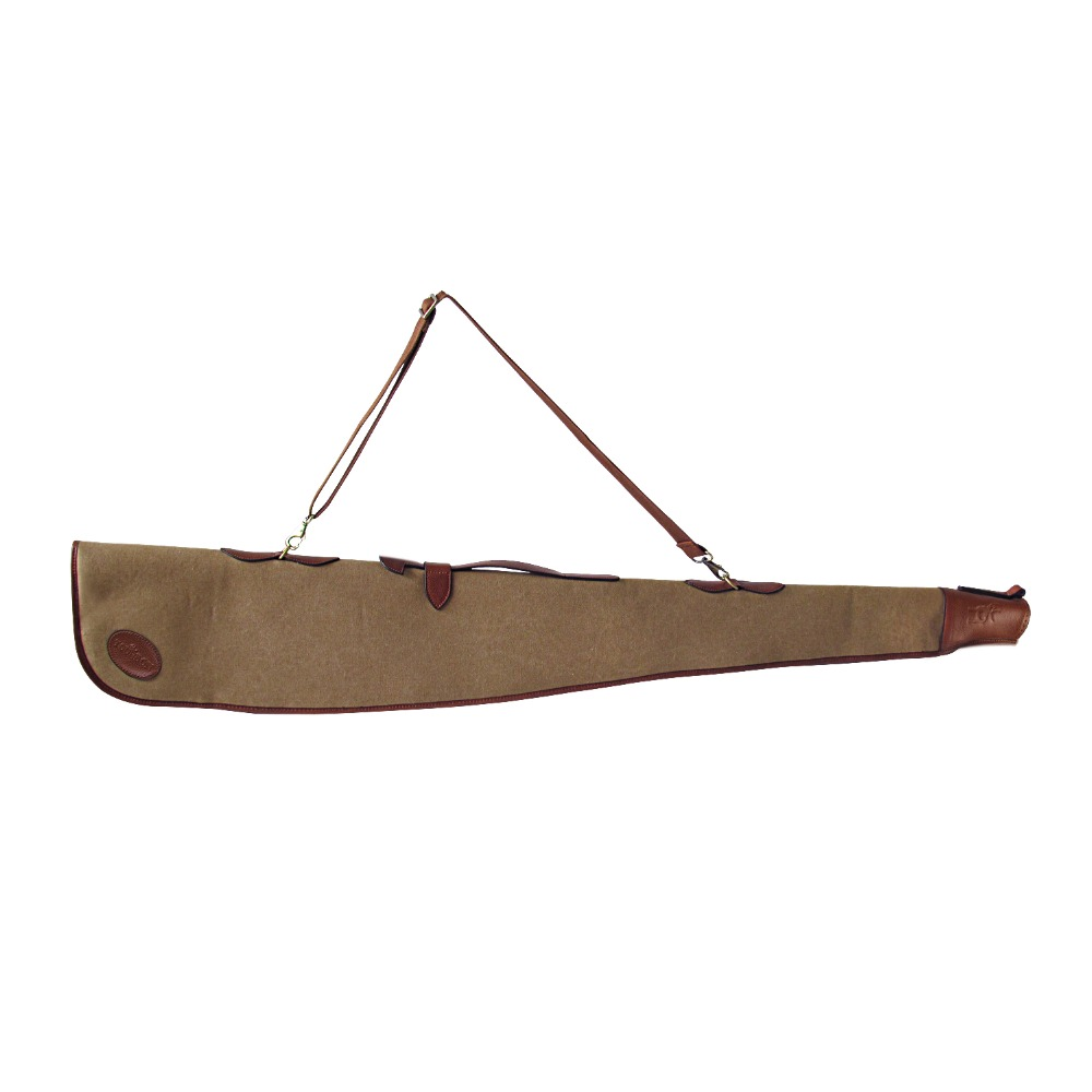 Tourbon Tactical Vintage Canvas Shotgun Slip Gun Bag Protection Case Brown Carrier for Shooting Hunting Gun Accessories