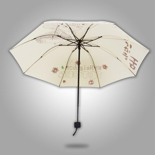 My Neighbor Totoro – Super Cute White Folding Umbrella