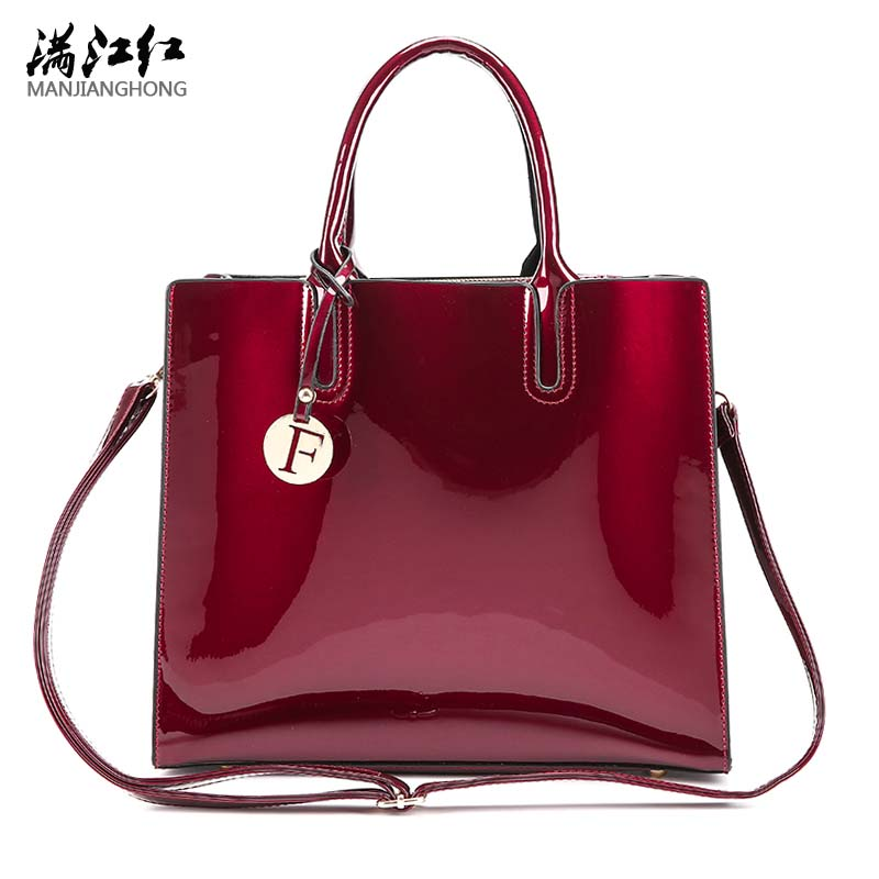 Solid Luxury Patent Leather Handbags Women Bags Designer Female Crossbody Shoulder Bags Ladies Hand Bag Sac a Main New Tote Bag 2pc purses and handbags leather women messenger bags female composite bag luxury crossbody bags for women tote bag sac a main