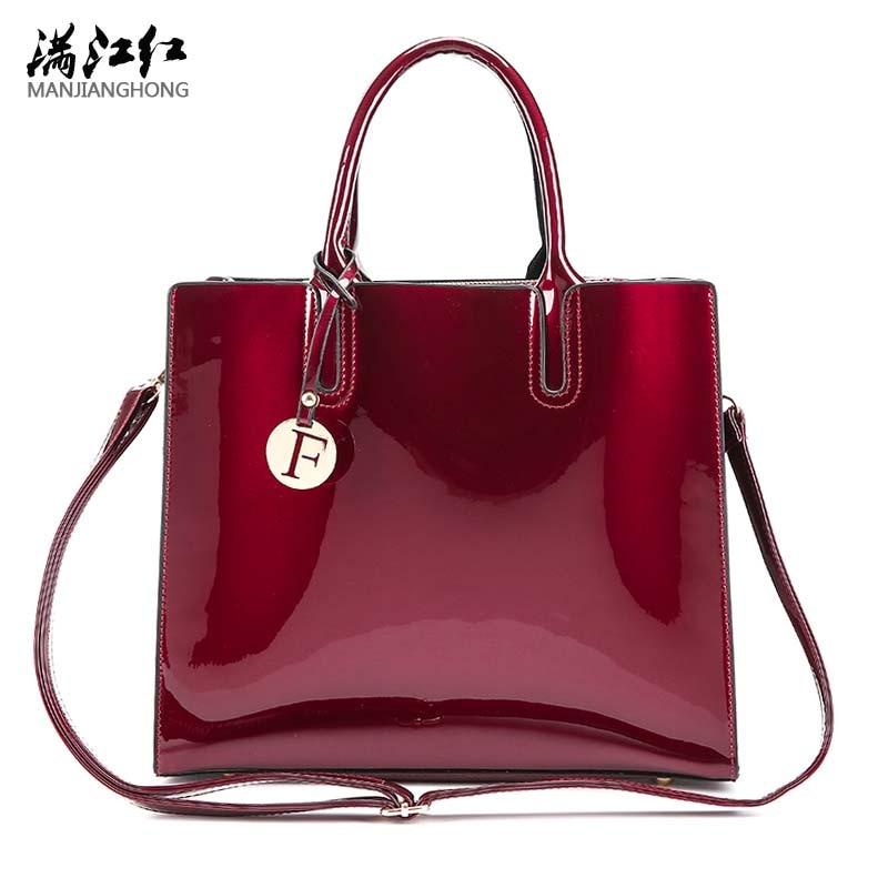 Solid Luxury Patent Leather Handbags Women Bags Designer Female Crossbody Shoulder Bags Ladies Hand Bag Sac a Main New Tote Bag