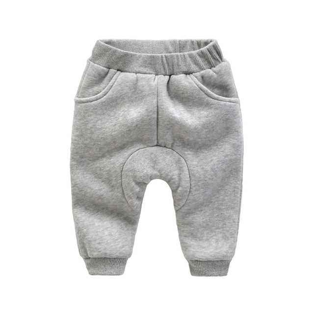 Calças do bebê inverno espessamento recém calças Haren