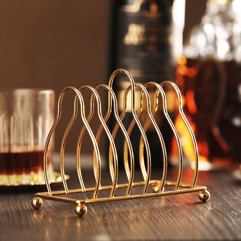 6pc Classical Golden Cocktail Metal Coaster Continental Vintage Zinc Alloy Silver Plated Gold Plated Mat placemat 5