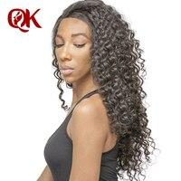 QueenKing волос Бразильский Кружева Фронтальная застежка глубокая волна Волосы remy 13x4 предварительно сорвал волосяного покрова отбеленные узлы