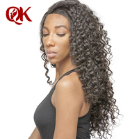QueenKing Hair Brazilian Lace Frontal Closure Deep Wave Remy Hair 13x4 Pre Plucked Hairline Bleached Knots Human Hair Pieces