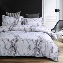 Marble Printed 3D Bedding Set Duvet Cover Pillowcase Size Single Duoble Twin Full Queen King Comforter Bedding Sets Bed Linen(China)