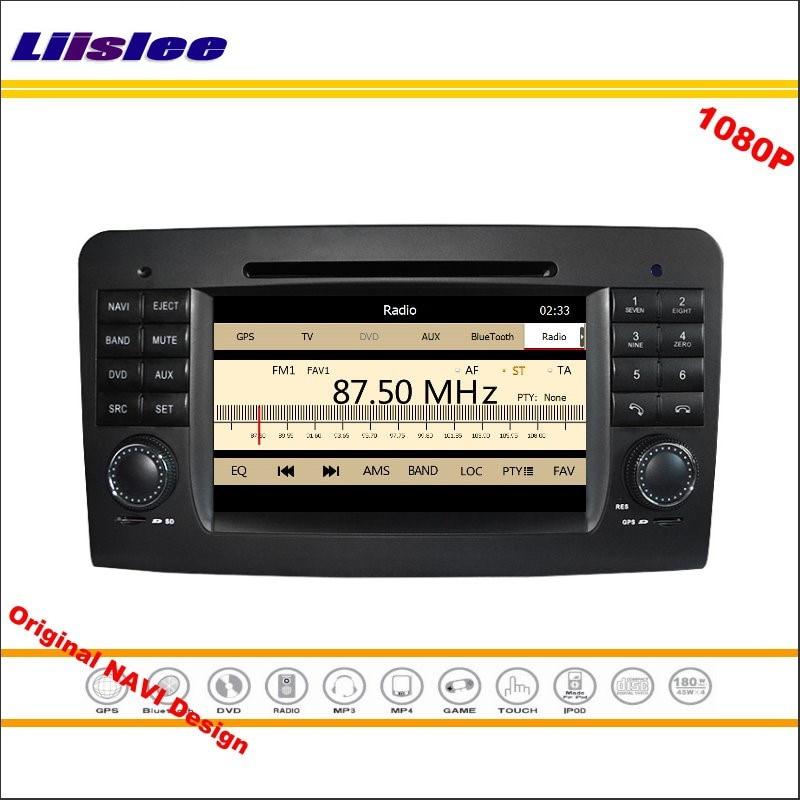 Liislee для Mercedes Benz ML W164 2005 ~ 2012 Стерео Радио CD dvd-плеер GPS навигации 1080 P HD Экран системы оригинальный nav Дизайн