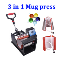 New design 3 in 1 Digital Mug Heat Press Sublimation Machine Fast SHIPPING Cheap Mug Printer