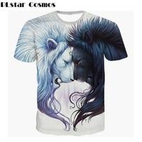 PLstar Cosmos Harajuku stijl t-shirt Animal lion print 3d t-shirt Vrouwen/Mannen t-shirt zomer stijl Casual t-shirt gratis verzending