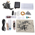 Tattoo Complete Tattoo kits Complete Tattoo Machine Set 8 Wrap Coils Guns Machine Black Power Supply Disposable Needle Set