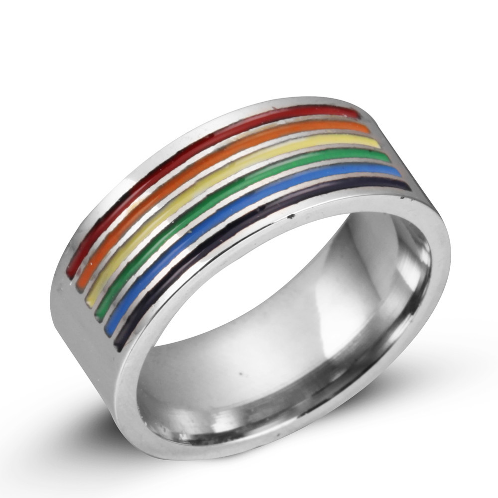 wedding grande products ring pride rings mens gay womens love pridedesignz rhinestones lesbian stainless band steel rainbow
