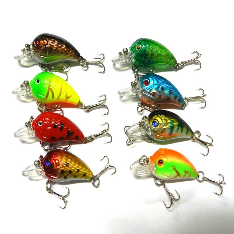 1x 4.5cm 4.2g Mini Fishing Lures Crank Baits 3d Fish Eye Simulation Minnow Crankbait Hard Plastic Laser Lure Bait Low Price (1)