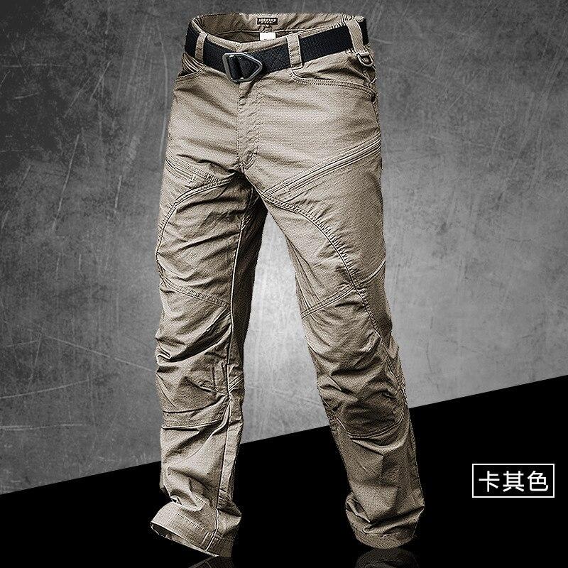 Tactique homme Anti-usure imperméable Long pantalon homme Trekking extérieur escalade randonnée Camping Combat militaire salopette pantalon