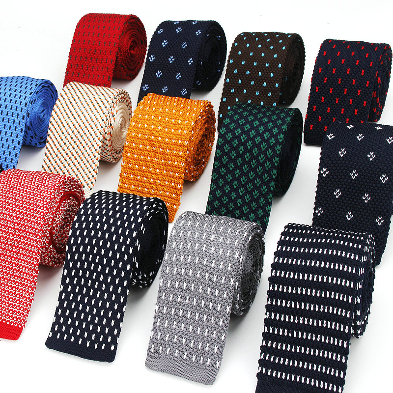 Brand New Men's Knit Tie Casual Skinny Knitting Neckties For Wedding Evening Party Gravata Slim Tie For Man Knitted Neck Tie