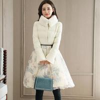 2017 Yeni Kış Marka Bayan Ceket Uzun Lady Kış Kabarık Hem Parkas Tarzı Ceketler Gerçek Kürk Yaka Kalın Tam Giyim Y170022