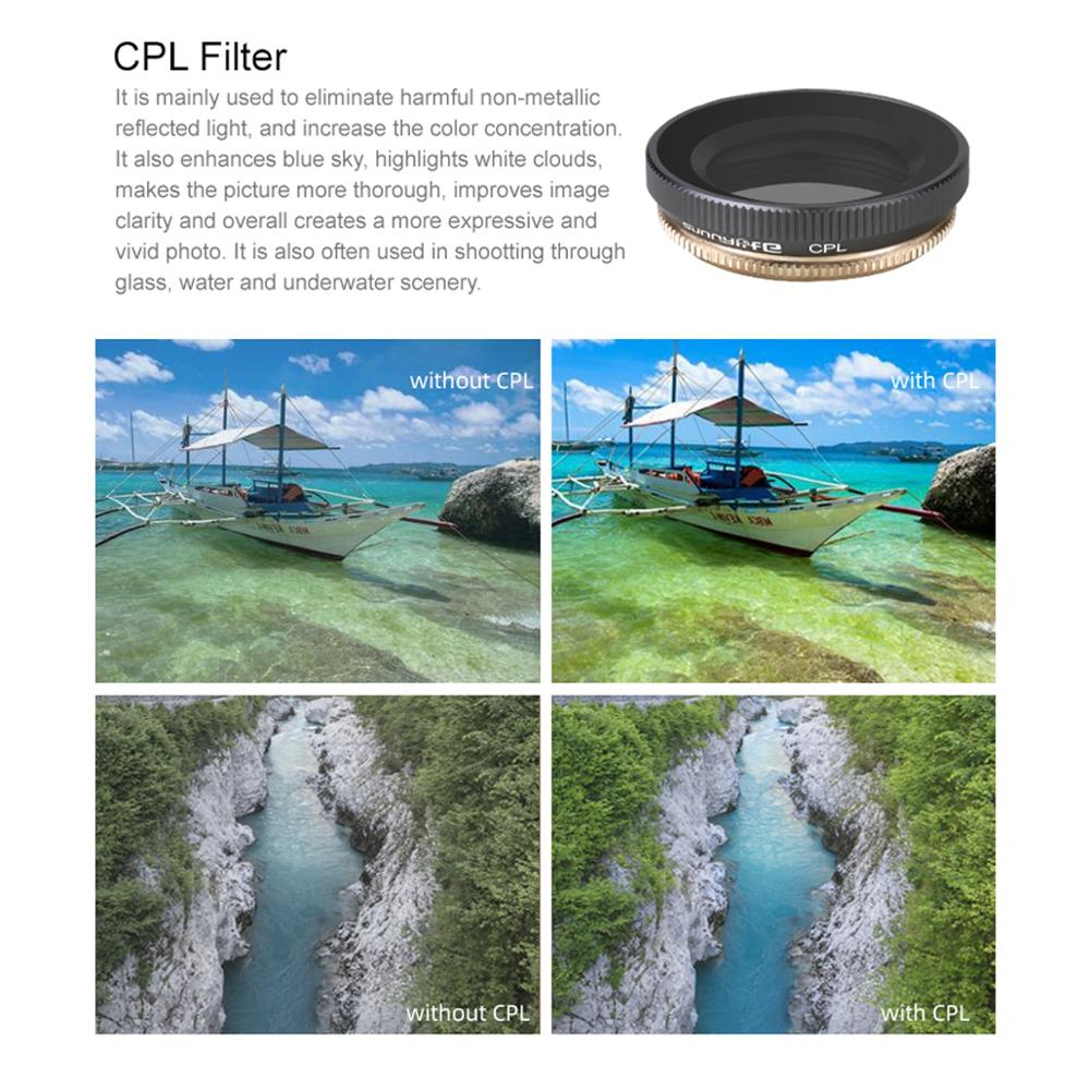 Image 5 - ND CPL Filters Series CPL+ND8+ND16 Mix Lens Filters Set Action Camera Lens Filters for DJI OSMO Action Gimbal Camera Accessories-in Camera Filters from Consumer Electronics