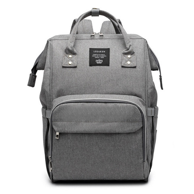 Diaper Bag Backpack Pure Color Men's Mummy Backpack