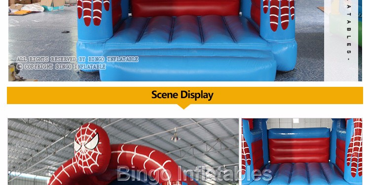Outdoor Inflatable Spider Man Moonwalk Trampoline Bouncer-inflatable spider bouncerinflatable spider bouncer castle portable (2)