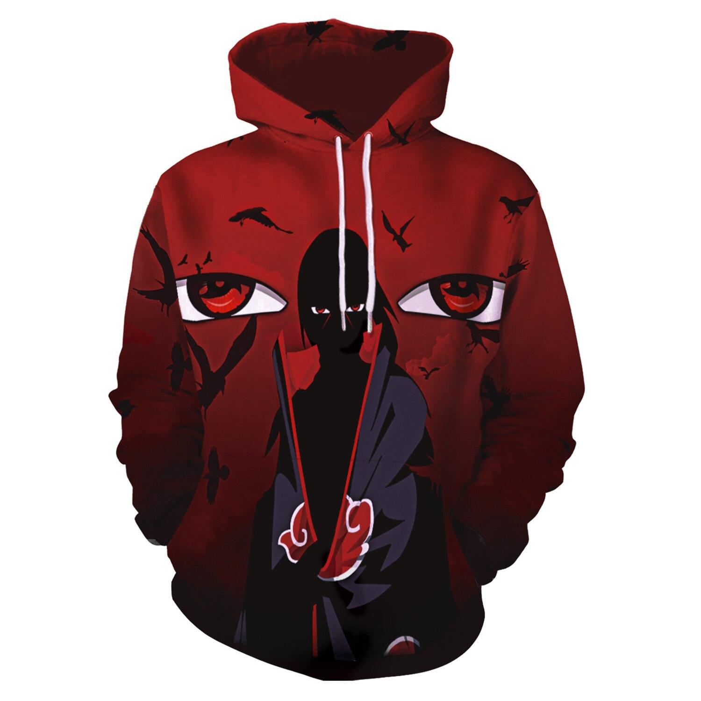 Hoodies Naruto Uchiha 3D Print Hoodies with Hat Men Hoodie Loose Hooded Sweatshirt Sudaderas Para Hombre Streetwear