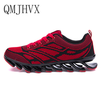 Men's Sport Shoes 2019 Lace up Exercise Couple Sneakers Breathable Mesh Letter Shoes Size 36 48 Sneakers for MenCasual Shoes