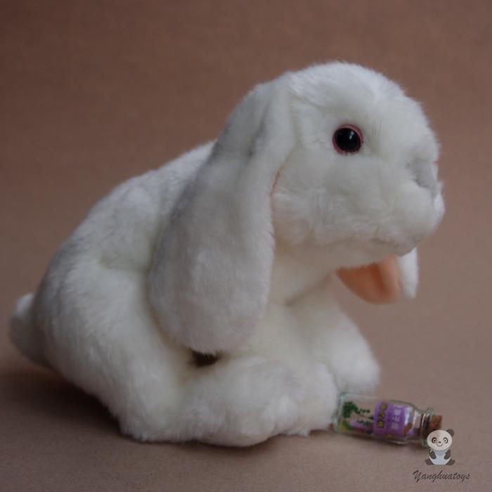 Barn Leksaker Vit Lop Rabbit Doll Gulliga Plush Kaniner Fyllda Djur Födelsedagspresent 26cm