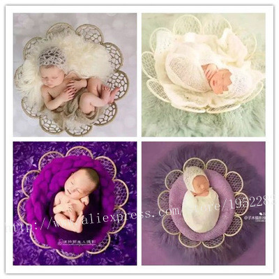 Wholesale new creative nest photography prop handmade woven straw basket for newborn baby fotografia photography props baby box in baby seats sofa from