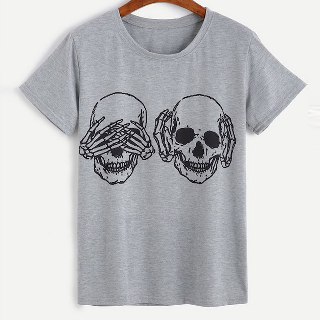 Unisex Skull T-Shirts 2 Colors 2
