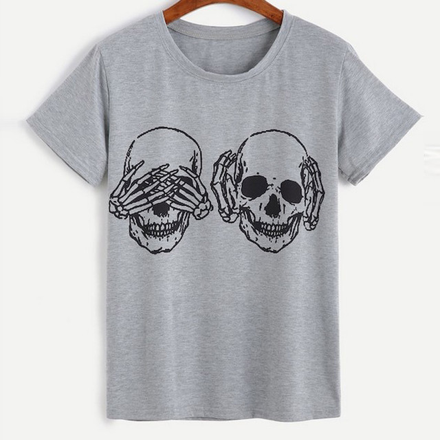 Unisex Skull T-Shirts 2 Colors  2