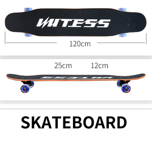 Image 4 - 4 Wheels Maple Complete Longboard Skateboard Street Dancing Long Board Skate Board Adult Youth Double Rocker Board