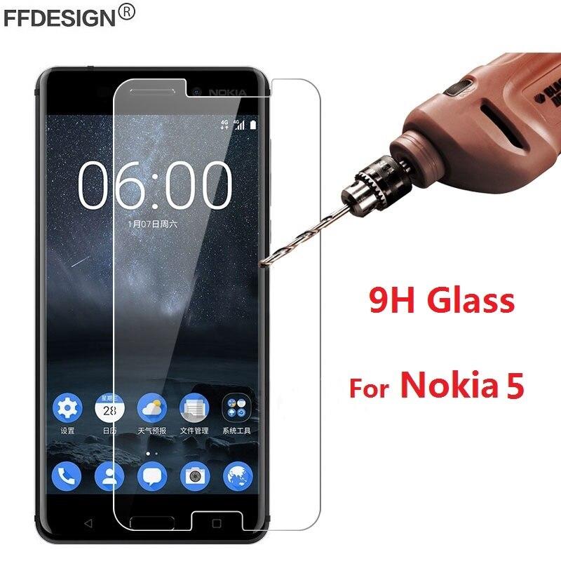 Película protetora para nokia 5, película de vidro temperado para nokia 5, protetor de tela