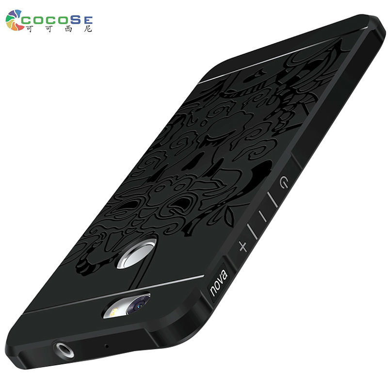 COCOSE for Huawei Nova case silicon matte cover luxury 3d carved soft tpu anti-knock mobile phone shell for huawei nova cases