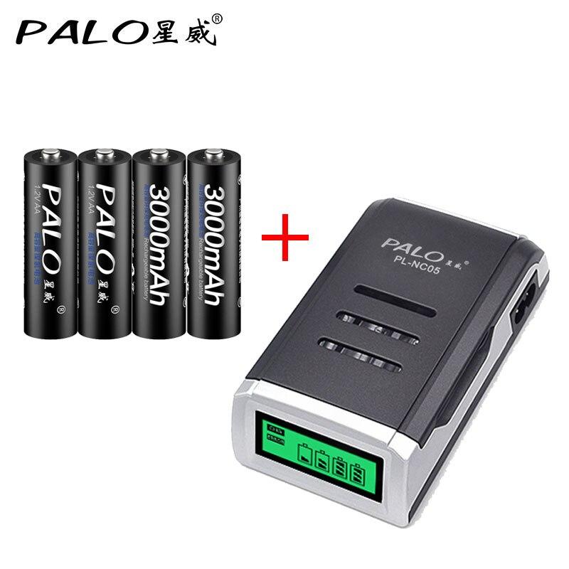 Palo Hohe Kapazität AA Akkus Mit Gute Paket Qualität batterie für Spielzeug kameras Batterie Sets