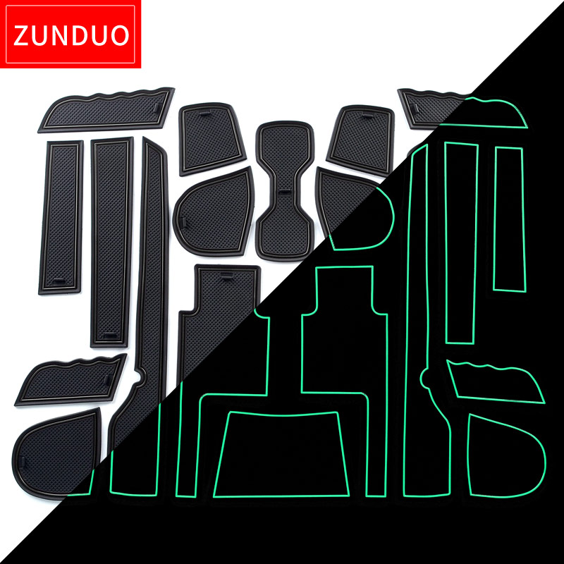 ZUNDUO  Gate slot pad for SSANGYONG TIVOLI 2015-2018 Interior Door Pad/Cup Non-slip mats