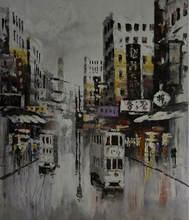 Картина ручной росписи современная картина городской пейзаж