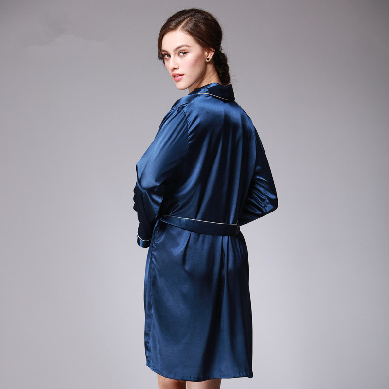 Aliexpress.com : Buy Satin Dressing Gowns For Women Long Sleeve ...
