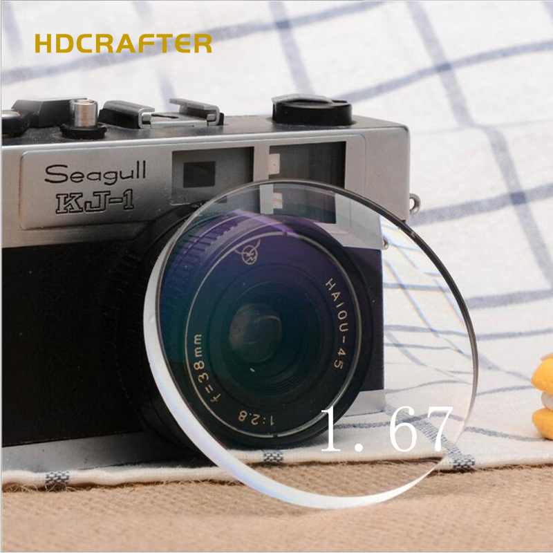 2018 HDCRAFTER 1.67 Aspheric glasses lens photochromic Optical Myopia Lens
