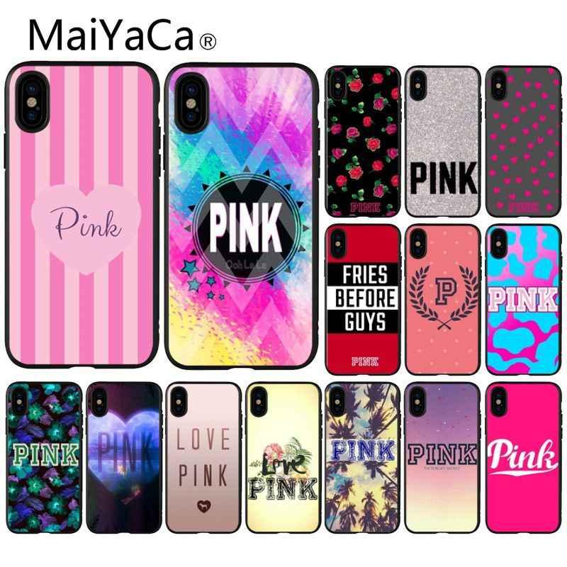 MaiYaCa rosa de moda del Victoria novedad fundas teléfono carcasa de la cubierta para el iPhone 8 De Apple 7 6 6S Plus X XS X MAX 5 5S SE XR cubierta