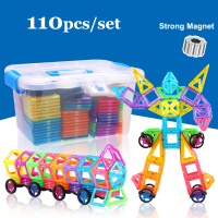 110pcs Mini Magnetic Designer Construction Set Model Building Plastic Magnetic Blocks Educational Toys For Kids Gift