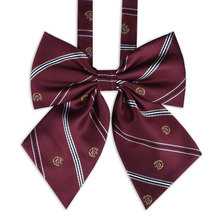 Bow-Tie Collar Girls Cravat Solid-Uniform Butterfly Japanese Striped High-School JK Free-Of-Tying-A-Knot