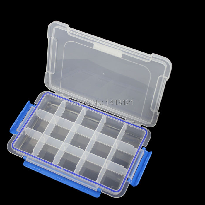 ФОТО free shipping 15 grid Thickened PP storage box Category Box Sealed bin Home case office DIY Chip box part jewelry tool box