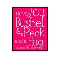 フランネル毛布ロマンチックなバレンタインの日ギフトの愛引用符アイ·ラヴ·ユーをブッシェルとをつつくとをハグ首に毛