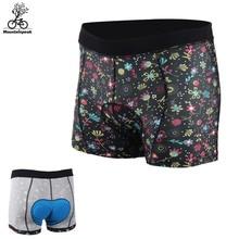 Mountainpeak Printed Bicycle Riding Underwear MTB Road Bike Men Women Cycling Shorts Sponge Thickened Coolmax Pad