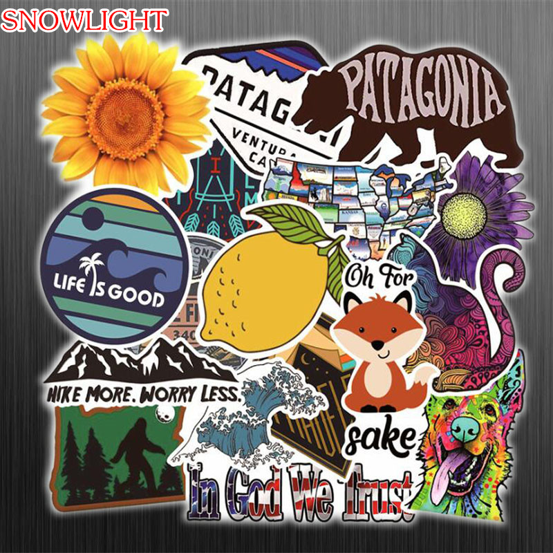 17 Pcs Retro Travel Instagram Style Mixed Stickers For Laptop Car Motorcycle Bicycles Luggage Phone Sticker PVC Decals Stickers