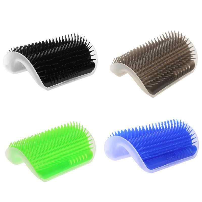 Pets Comb Pet Hair Removal Massage Comb Removable Cat Corner Scratching Rubbing Brush Black/Grey/Green/Blue Cleaning Supplies