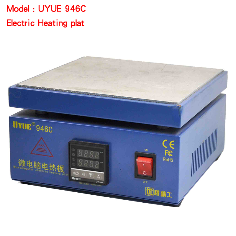 YOUYUE 946C Electronic Hot Plate Preheat Preheating Station 200x200mm for PCB, SMD heating work for phone lcd screen separate