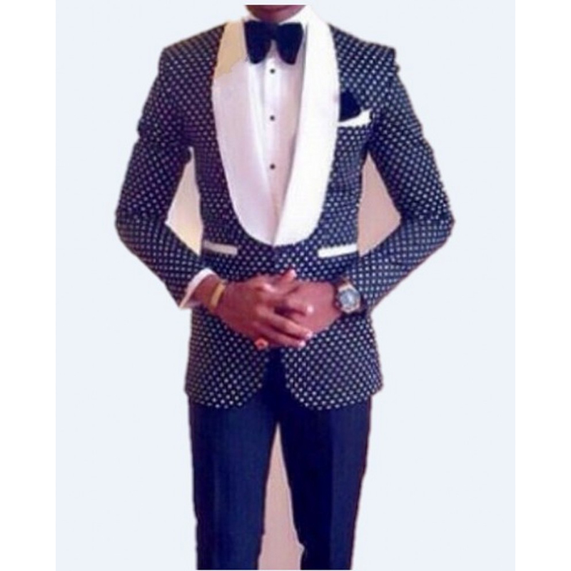 White Groom Tuxedos Black Shawl Lapel Groomsmen Best Man Wedding Men/'s Suits NEW