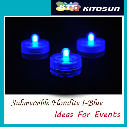 Popular Factory Wholesale 50LEDs Blue Submersible Small Battery Operated Mini  LED Wedding Centerpiece Light For Crafts