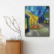Cafe Terrace at Night by Vincent Van GoghCanvas Painting Calligraphy Posters and Print Home Decor for Living Room Wall Pictures