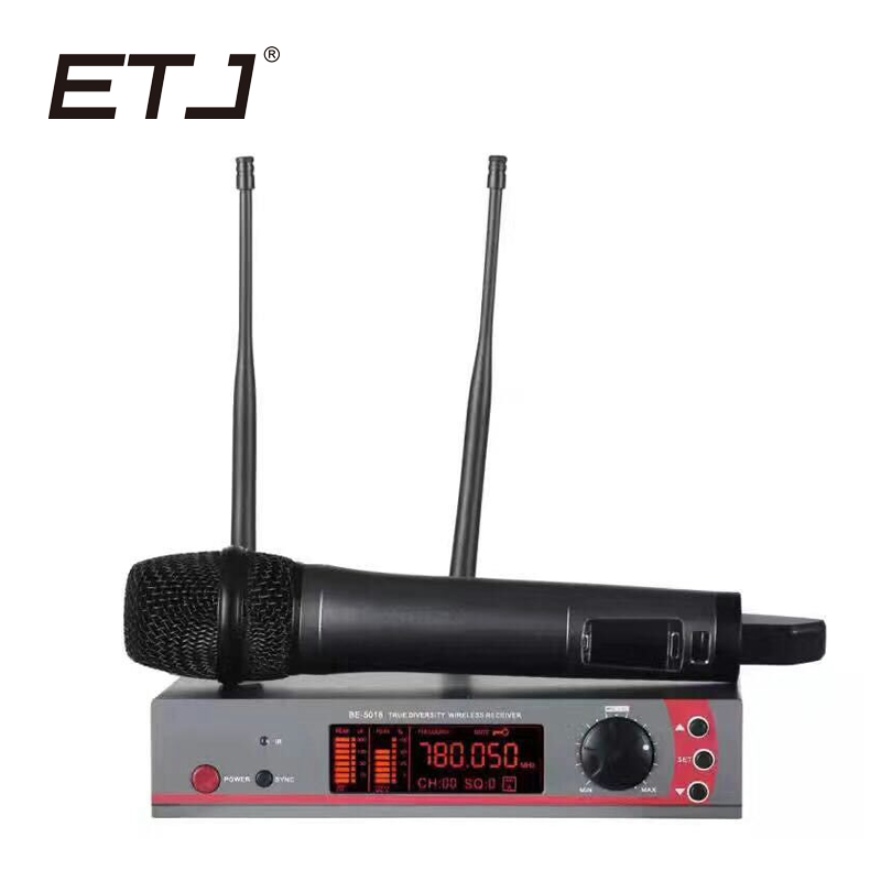 ETJ Brand Professional Wireless Microphone System EW100G7 True Diversity Double Receiver etj brand ur1000d true diversity professional uhf wireless microphone 2 transmitter 4 receiver stage performance microphone