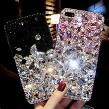 Sunjolly со стразами случае алмаз шику телефон Чехол Коке fundas для samsung Galaxy S9/S8 плюс S7/S6 край плюс S5 S4 Примечание 8 5 4