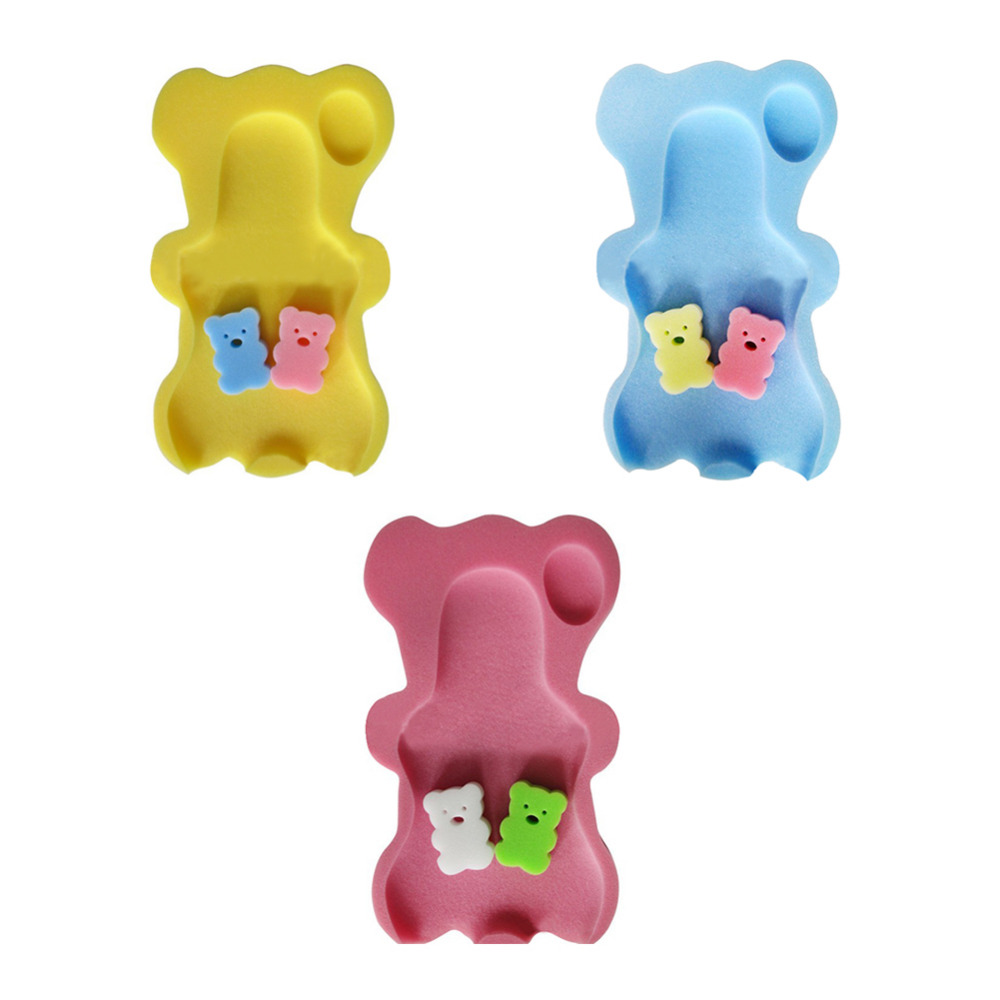 Baby Infant Soft Bath Sponge Seat Cute Anti-Slip Foam pad Mat Body Support Safety kids Cushion Sponge bathroom products Lahore